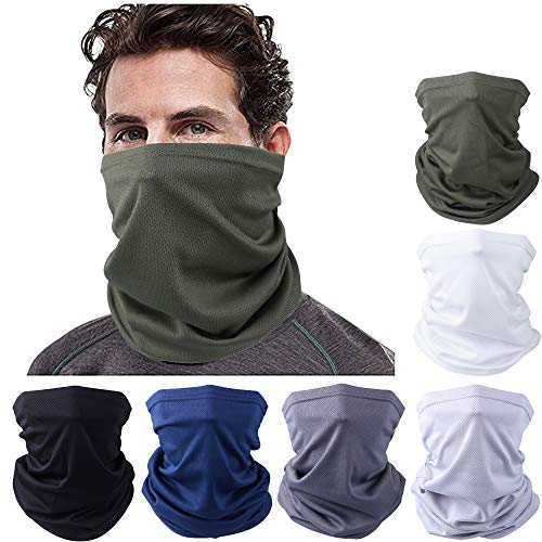 Facio 6 sztuk bezszwowych chusteczek typu bandana, chusta wielofunkcyjna, opaska na czoło, opaska na głowę, nakrycie głowy, ochrona przed promieniowaniem UV, do jogi, biegania, wędrówek, jazdy na rowerze, motocyklu