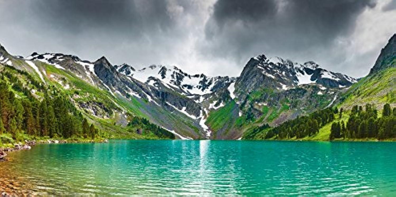 Artland Qualitätsbilder I Bild auf Leinwand LeinwandbilderDmitry Pichugin Bergsee Landschaften Landschaften Landschaften Berge Fotografie Grün D8SV B07D68JDMG       Outlet Online  b8a1f6