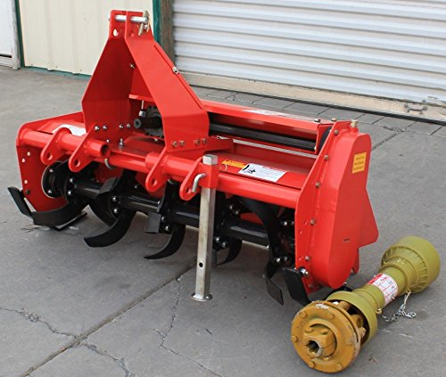 Best Deals! Farmer Helper 53 Adjustable Offset 3 pt Rotart Tiller FH-TL135 Cat.I 3pt 20+hp~Slip Clu...