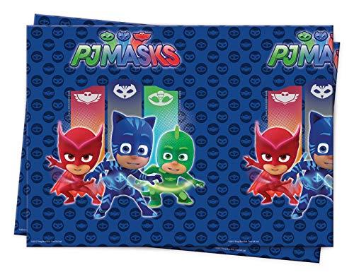 Procos 88634 - Tischdecke PJ Masks, Größe 120 x 180 cm, Superhelden, Partydekoration, Kindergeburtstag