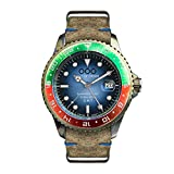 Out of Order GMT Roma Acero Swiss Cuarzo Verde Rojo Azul Age