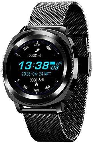 L.TSA Bluetooth Smart Watch IP68, braccialetto sportivo impermeabile, contapassi, contapassi, monitoraggio del sonno, contacalorie, orologio ultra sottile per bambini e donne, colore: nero, Nero