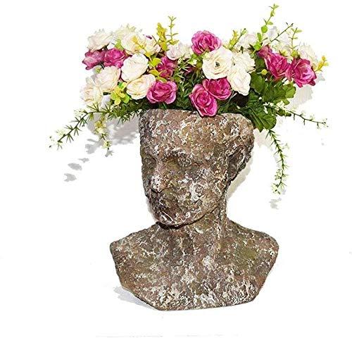 kglkb Escultura Decorativa Salon,Maceta Creativa De Jardín,Maceta para Flores,Maceta para Jardín,Decoración Retro,Diosa Romana,Escultura De Cabeza,Maceta,Estatua De Resina