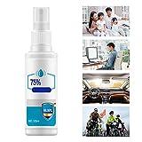 Spray de limpieza de manos, 75 de seguridad de alcohol Spray de protección Spray de limpieza Teléfonos móviles Juguetes Spray de limpieza para la oficina en casa del coche - 100ml