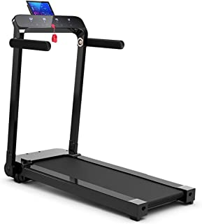 GYMAX Folding Treadmill, Free Installation Smart Digital Running/Walking Machine with LED Touch Display for Home Apartment