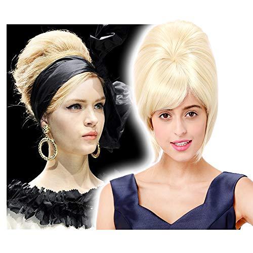 STfantasy Damen Perücke Blonde Elegant Palast Prinzessin 60er Jahre Bienenstock Wigs für Anime Cosplay Kostümparty Halloween Karneval