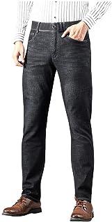 Jotebriyo Mens Casual Slim Stitching Drawstring Waist Denim Jeans Pants with Zip Deco