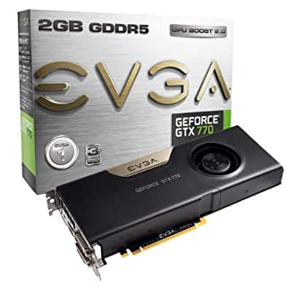 EVGA Nvidia GeForce GTX 770 2GB GDDR5 Graphics Card (PCI Express 3.0, HDMI, DVI-I, DVI-D, Display Port, 256 Bit, Vision Ready, GPU Boost) (B00D3LE3YM) | Amazon price tracker / tracking, Amazon price history charts, Amazon price watches, Amazon price drop alerts