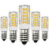 Lampadina a LED E14, 12V, 4W, luce bianca calda, 3000 K, sostituisce lampadine alogene da 40W, a bassa tensione, non dimmerabile, a risparmio energetico, 5 pezzi