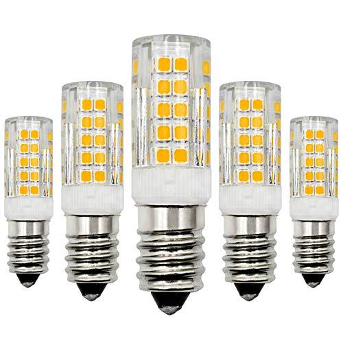 LED Lampe E14 12V 4W Warmweiß 3000K Birne Ersatz 40W Halogen Niedrige Spannung Nicht Dimmbar Kerze LED Energiesparlampe - 5 Pack [MEHRWEG]