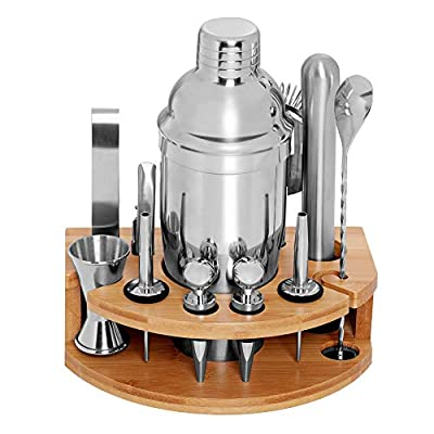 DEKINMAX 12-Piece Bartender kit with stand, Sta...