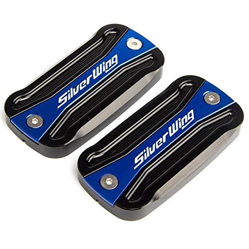 GZWO CNC Freno RESEVOIR Cap/FIT FOR - Honda / FCS600 Silverwing FCS 600 Silver Wing 2001-2009 2010 2011 Cubierta del Tapa del Tanque De La Motocicleta (Color : Black Blue)