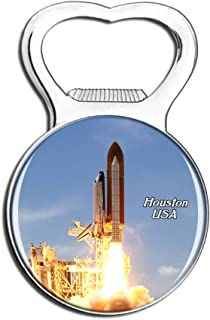 Weekino USA America Space Center Houston Fridge Magnet Bottle Opener Beer City Travel Souvenir Collection Strong Refrigera...