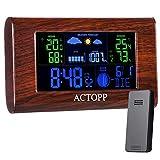 ACTOPP Stazione Meteo Wireless con Sensore, Termometro Igrometro Digitale...