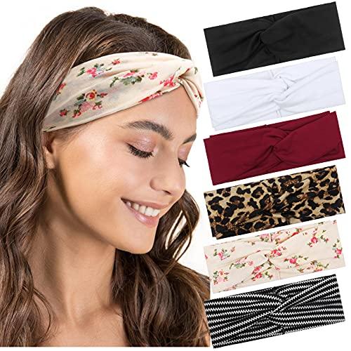 Haarband Damen Boho Stirnband Criss Cross Stirnbänder Elastische Haarbänder Turban Sommer Blumen Stilvolle Sport Geknotetes Haarband Haaraccessoires