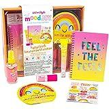 Just My Style MoodJoy Happi Birdi Happiness Beauty Set by Horizon Group USA, Mood-Boosting Wellness Kit, Self-Care Kit, Mindfulness Journal, Facial Sheet Mask, Body Mist Spray, Clean Beauty Products