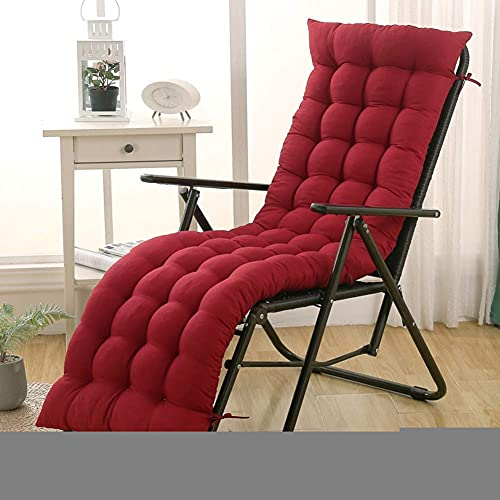 Iyom Universal One-Piece Rocking Chair Cushions Not-Slip Thicken Lounge Chair Cushion,Folding Wicker High Back Seat Cushion for Indoor Outdoor(No Chair)