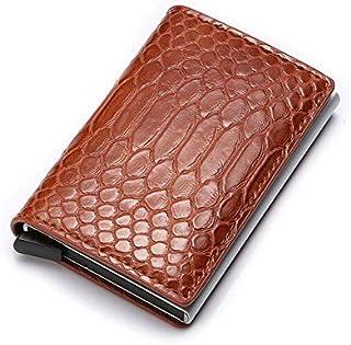 Wallets - Rfid Blocking Men Wallets Slim Card Thin Trifold Leather Wallet Black Male Purses Money Bag Mans Mini Vallet Wal...