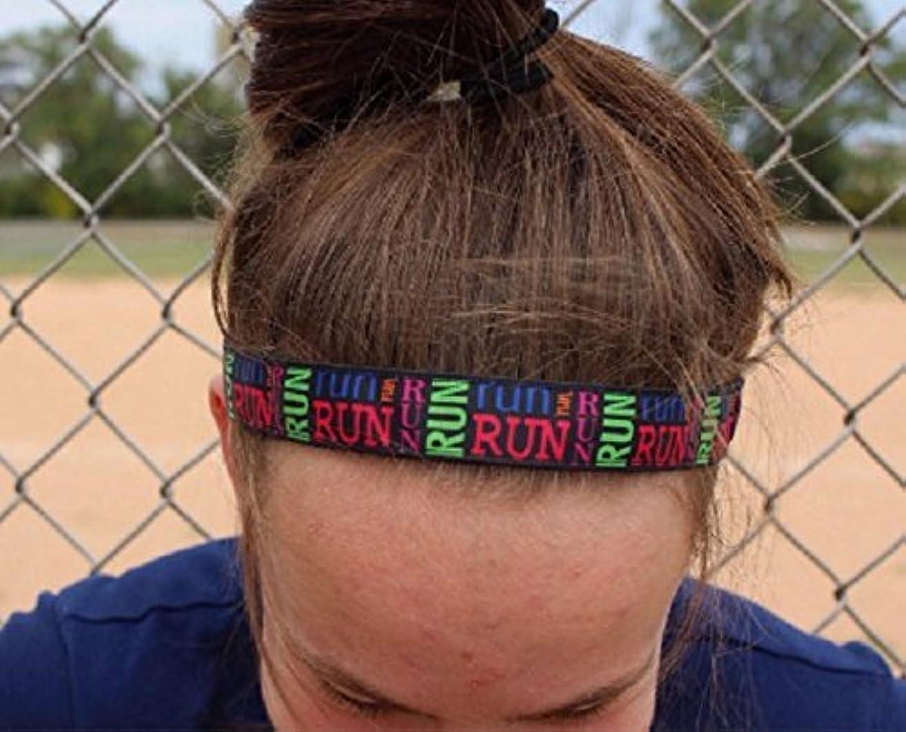 Nonslip Running Headbands, Choice of Sizes, RUN, Headbands for Running Women