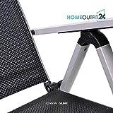 """Homeoutfit24 Gartenstuhl-Set Hochlehner """"California"""" wetterfest - 6"""