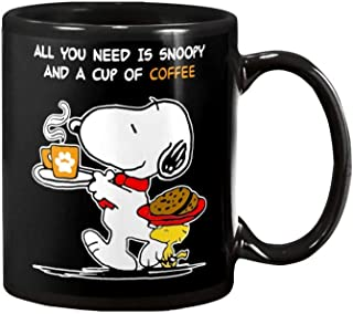 A Cup Of Coffee And A Delicious Breakfast With Snoopy Is All You Need Coffee Mug - 11Oz Black Gift For Friend Lover Couple Husband Wife Mother In Christmas Birthday Valentine Day Wedding