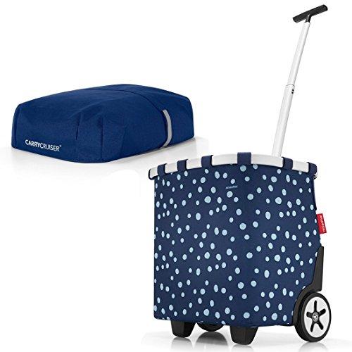 reisenthel - EXKLUSIVES ANGEBOT! carrycruiser + GRATIS cover! Einkaufskorb Einkaufstasche Einkaufstrolley (spots navy BP4044+OE4044)