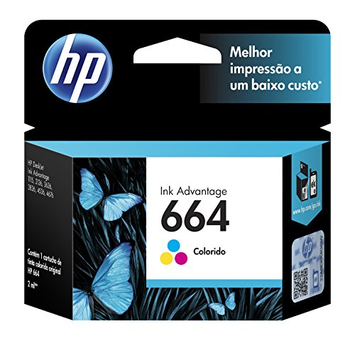 HP Cartucho Original de Tinta Tricolor 664 Advantage (F6V28AL)