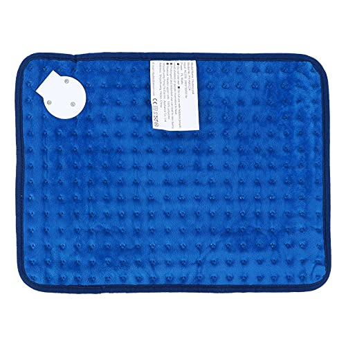 Healifty Soft Flannel Electric Heat Pad Fast- Heating Warming Pad Travel Throw Heated Blanket Bed Mattress Cover for Feet Hands Abdomen Back Full Body Pain Blue