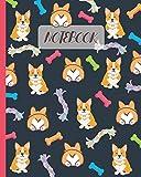 Notebook: Cute Corgi & Butt - Lined Notebook, Diary, Track, Log & Journal - Gift Idea for Boys Girls Teens Men Women (8x10 120 Pages)