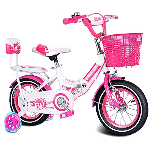 DODOBD Bicicletas Infantil para Niños y Niñas a Mayores de 2 Años, Bici de Montaña 6 Pulgadas con Ruedines de Entrenamiento Desmontables y Frenos, 18' Edición Mountainbike