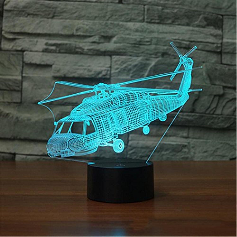 Lozse 3D Nightlights, Hubschrauber 2 Bunte 3D-Lichter-Noten-Visuelle Licht-Steigungs-LED-Licht-Nachtlicht, Bestees Geschenk für Freunde Kinder