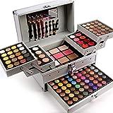PhantomSky 132 Colores Cosmético Maquillaje Profesional Paleta de Sombra de Ojos con Ceja Polvos Prensados, Polvo y Rubor