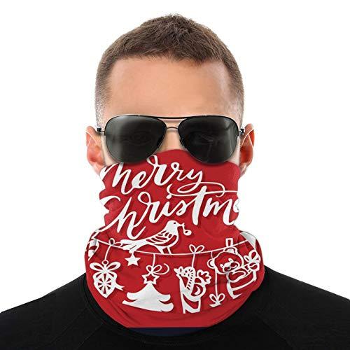 Feliz Navidad Multifuncional Headwear Bandana Bufanda – Tubo elástico Magic Headband Polaina Pasamontañas Máscara facial UV Running Ciclismo