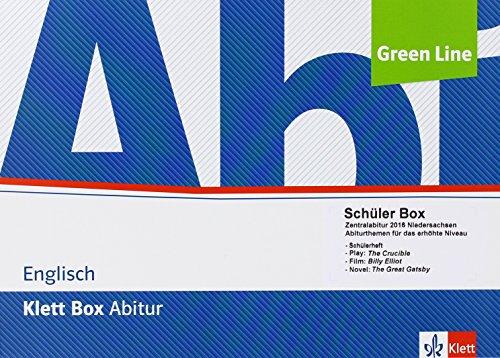 Klett Box Zentralabitur Englisch 2016/2017 Niedersachsen. Schülerbox - erhöhtes Niveau: Abiturthemen für das erhöhte Niveau, Arbeitsheft; The Crucible ... (Readers); Billy Elliot (DVD) Klasse 11/12