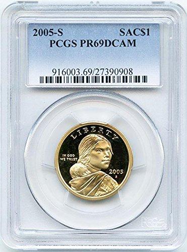 2005 S Proof Sacagawea Dollar PCGS PR 69 DCAM New Blue Label...