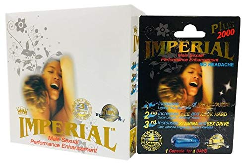 Imperial Plus 2000 Sexual Performance Enhancement Pill + Keychain Capsule Holder (Imperial Zen - 24 Pack)