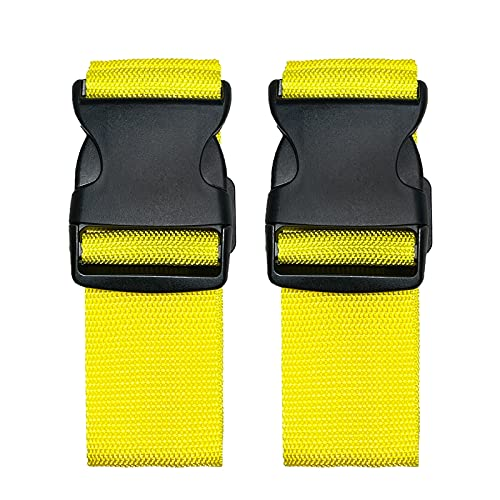 2 Pack Suitcase Belts, Adjustable Luggage Straps, Bright Colors Travel...
