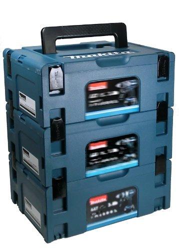 Makita Makpac MAKPACSET2 - Set di 3 scatole per il trasporto, misura grande