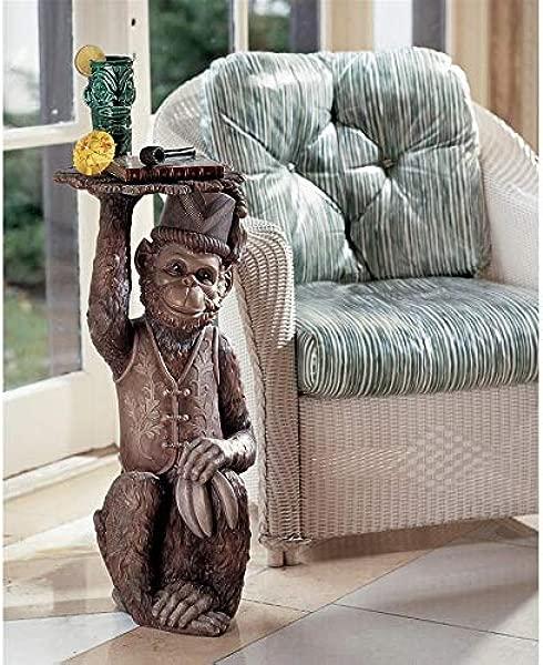 Design Toscano Moroccan Monkey Butler Sculptural End Table