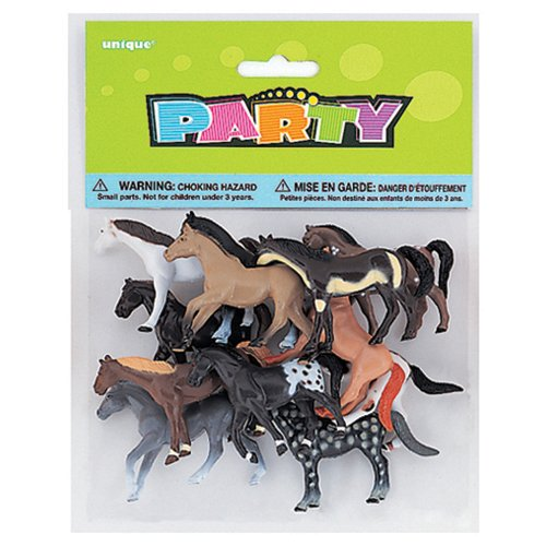 Plastic Horse Party Favors, 10ct