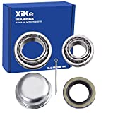 XiKe 1 Set Fits for 1-3/8'' to 1-1/16'' Axles Trailer Wheel Hub Bearings Kit, L68149/L68111 and L44649/L44610, 171255TB Seal OD 1.719'', Dust Cover and Cotter Pin, Rotary Quiet High Speed and Durable.