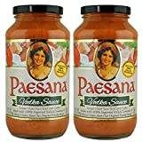 Paesana Traditional Vodka Pasta Sauce — Gluten Free, and made with 100% Imported Italian Tomatoes - Packed in the USA, 25 oz (2 Pack)