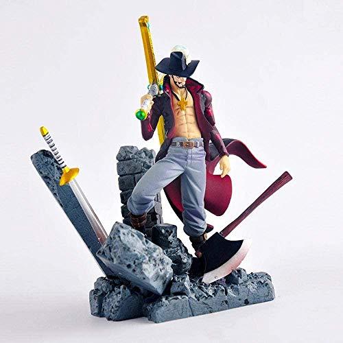 Yooped One Piece Mihawk Dracule Anime Figura Carattere di Modello Fatto A Mano da Tavolino Della Decorazione Statuetta Statua en PVC 15cm
