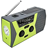 LPWCAWL Radio À Manivelle Solaire d'urgence, Radio Multifonction AM/FM/NOAA, Radio Portable Extérieure avec Lampe De Poche LED, Lampe De Lecture, Batterie Externe 2000mAh, Alarme SOS