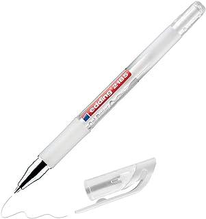 edding 2185 Gelpen - wit - 1 pen - 0,7 mm - gelpennen om te schrijven, te schilderen, mandala, bulletjournal - wit gelpennen