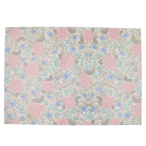HomeDecTime 6x Geschenkpapier Multi Muster Für Geburtstage, Valentines, Weihnachten - Pinke Blume