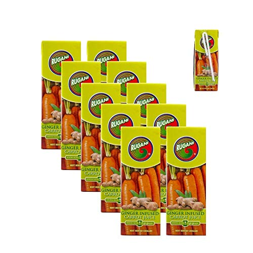 Ginger Infused Carrot Juice Lunchbox Case – 100% Pure Natural Fresh Juice Health Drink (10x330ml)