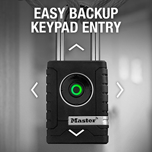 Master Lock Padlock, Outdoor Personal Use Bluetooth Lock, 2-7/32 in. Wide, 4401DLH