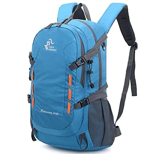 SKYSPER Mochila de Senderismo 30 litros Impermeable Macutos Mochila Trekking al Aire Libre Ultraligera Ergonómica para Escalada Deporte Viajes Acampadas (Azul)