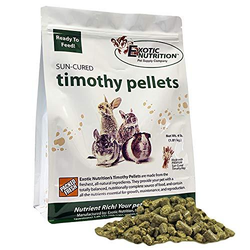 Timothy Pellets 10 lb - 100% All Natural, High Fiber, Sun Cured Timothy Hay Grass Food & Treat - Rabbits, Guinea Pigs, Chinchillas, Degus, Prairie Dogs, Tortoises, Hamsters, Gerbils, Rats & Small Pets